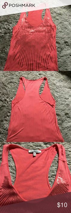 Coral Charlotte Russe Sequin Tank Sz XL This is in great condition, size XL. Never worn, just has been sitting in my closet. Gorgeous sequin detailing. Charlotte Russe Tops Tank Tops
