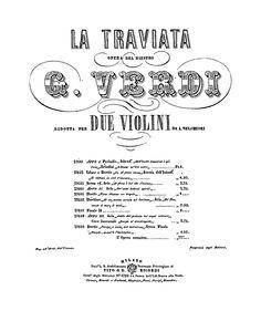 #partition #latraviata #traviata #verdi
