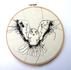 "Embroidery Owl 8"" Hoop by RosieG Embroidery, via Flickr"
