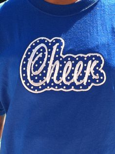 Custom Applique Cheer Cheerleader Shirt Other by PreppyPinkies, $12.99