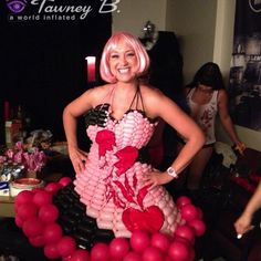 Las Vegas balloon dresses created by Tawney B. http://worldinflated.com