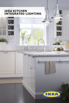 Good lighting is an essential part of any kitchen and can really make a difference. At IKEA stores, you'll find specially designed kitchen lighting for your countertops, cabinets and even your drawers. And because all our lighting is LED, it will save you money on your electricity bills, too.