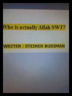 Angel Publisher: Book : Who is actually Allah SWT ?