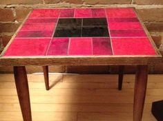 Tile Tables | Three U002770s Wood End Tables, With Tiled Tops In Red And Great Ideas
