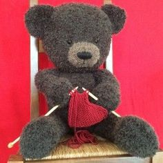 Arts and Crafts Store Knitting Bear, Knitted Teddy Bear, Teddy Bear Toys, Crochet Teddy, Crochet Bear, Crochet Toys, Knitting Toys, Teddy Bears, Hobbies And Crafts
