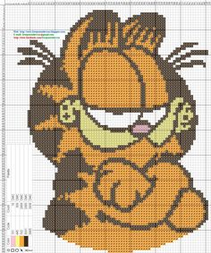 Cross-stitch Garfield...    https://www.facebook.com/bordarpontocruz