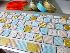 Twine and Tape: Washi Tape Keyboard!