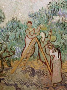 'The Olive Orchard' (detail), 1889 - van Gogh