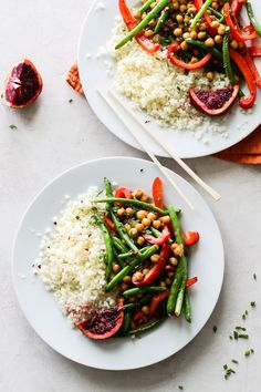 French Delicacies Essentials - Some Uncomplicated Strategies For Newbies Easy Orange Chickpea Stir Fry V, Gf - Flora and Vino Vegan Dinner Recipes, Vegan Dinners, Whole Food Recipes, Vegetarian Recipes, Healthy Recipes, Weeknight Dinners, Free Recipes, Easy Dinners, Delicious Recipes