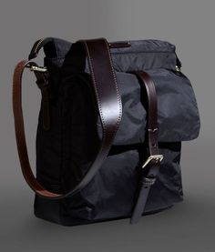 http://chicerman.com  ae-craftsman:  Giorgio Armani - Messenger bag  #menshoes