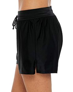 e0c4e36a74 Sociala Women's Swim Shorts High Waist Tankini Bottom Boardshort with  Drawstring,#Shorts, #