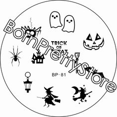 $2.99 Halloween Witch Nail Art Stamp Template Image Plate BORN PRETTY BP81 - BornPrettyStore.com