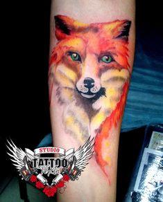 Watercolor tattoo on forearm by Yuriy Yareshko Raven Tattoo, Forearm Tattoos, Tattoo Photos, Watercolor Tattoo, Tattoos On Forearm, Temp Tattoo