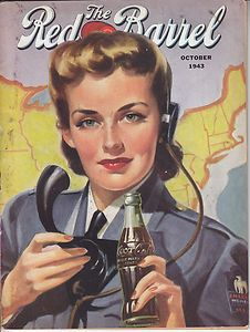THE RED BARREL MAGAZINE OCTOBER 1943 MILITARY THEME A COCA-COLA PUBLICATION