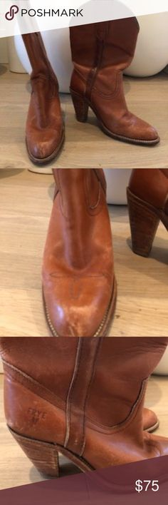 Frye Leather Cowgirl Boots Selling a vintage style pair of leather Frye cowgirl boots (brown / tan) - size 6.5.   Similar to this style...  https://shop.nordstrom.com/s/frye-billy-western-boot-women/4169634?country=US&currency=USD&cm_mmc=google-_-shopping_ret-_-662927176-_-33067284429_639ad555-405c-4a4e-a69d-e494db44e33b&cm_mmca1=aud-338839963599:pla-258644321453_91728023&gclid=Cj0KCQiA2NXTBRDoARIsAJRIvLy71E-gq3LHKxgnvdTO0fcj7pz2AkQYpM_w8ExyoqUW6GDOBFGaXJIaAtUmEALw_wcB Frye Shoes Ankle Boots…