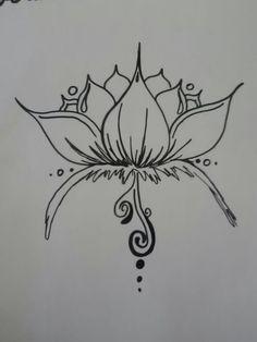 Henna Lotus Design by ~BurdenArrow on deviantART