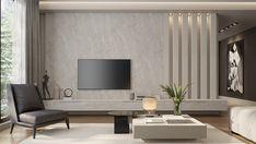 Living Room Wall Units, Living Room Tv Unit Designs, Home Design Living Room, Living Room Decor, Living Rooms, Modern Tv Room, Tv Unit Interior Design, Apartment Interior, Living Room Inspiration