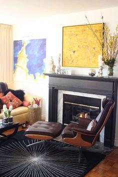 fireplace layout