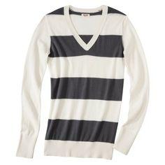 Mossimo Supply Co. Juniors Long Sleeve V Neck Sweater - Desired colors: Dog Bone/Quartz Grey, Dog Bone, or Cranberry Zing. Size Small