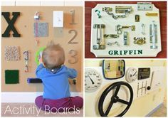 Sensory boards to make for the toddlers love these baby toys -