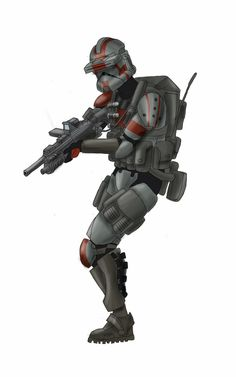 Clone shock trooper by Smackadoodledoo