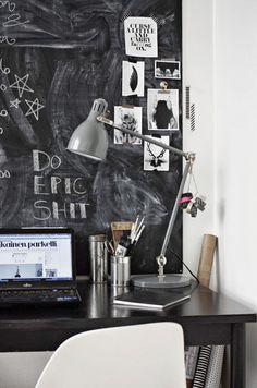 chalkboard paint ideas beautiful home office chalkboard