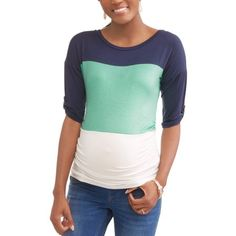 Free 2-day shipping on qualified orders over $35. Buy Planet Motherhood Maternity 3/4 Sleeve Color Block Jersey Top at Walmart.com