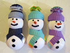 Quilly Nilly: Quilled Snowmen Ornaments