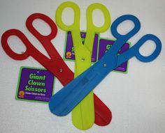 Jumbo Scissors plastic toy circus clown costume grand opening beauty shop prop  #Rubies