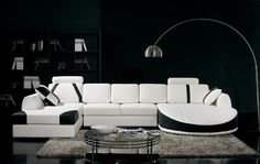 Stylish Design Furniture - Divani Casa T57 Modern White and Black Bonded Leather Sectional Sofa, $2,171.00 (http://www.stylishdesignfurniture.com/products/divani-casa-t57-modern-white-and-black-bonded-leather-sectional-sofa.html/)