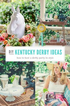 Host your own Kentucky Derby party with these entertaining and decorating tips! Kentucky Derby Food, Kentucky Derby Outfit, Kentucky Derby Party Ideas, Kentucky Derby Fundraiser, Derby Day, Derby Time, Derby Dinner, Derby Outfits, Horse Party