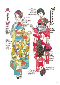 2017 how to book /coordinate label /kimono hearts #kimono