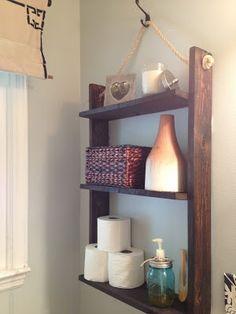 Put A Shelf Above The Door For Storage In A Small Bathroom DIY - Bathroom hanging storage for small bathroom ideas