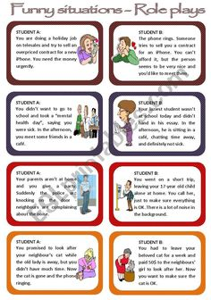 This is a set of eight funny situations conversation cards) for intermediate. This is a set of Best Funny Pictures, Funny Photos, Funny Photo Editor, Holiday Jobs, Conversation Cards, French Language Learning, Teaching Spanish, Spanish Language, Funny Texts Crush