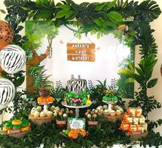 Safari Jungle Themed First Birthday Party Ideas styled by Sweet Bits and Pieces www.sweetbitsandpieces.com.au