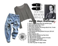 """""""My 15 days challenge - 4. One thing that I would/wouldn't change about me"""" by dracul-278 ❤ liked on Polyvore featuring MANGO, Levi's and Converse"""