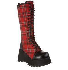 Attitude Clothing - Alternative, Gothic, Punk, Rock Clothing, Shoes, Brands + Accessories - Demonia Scene 100 Boot