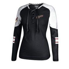 Women s Arizona Coyotes Reebok Garnet White Lace-Up Long Sleeve Hockey Top  Blues Nhl 4c2b9e048