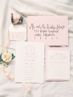 shade of pink and black spring wedding invitations/ blush pink rustic chic spring wedding invitations