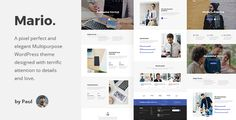 Mario. - Creative Multipurpose WordPress Theme by paul_tf Mario. ¨C Modern & Clean Multipurpose Template. Mario is suitable for business, corporate, startup, creative, and another websites