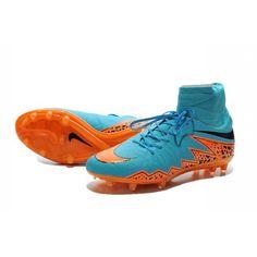 New Shoes Nike HyperVenom Phantom II FG Football Cleats Blue Orange Black
