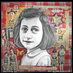 Anne Frank DRAWING by PainterSam on Etsy