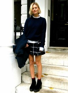 Black And White Preppy Style Outfits Ideas 06 Preppy Girl, Preppy Look, Preppy Style, Style Me, Winter Skirt Outfit, Skirt Outfits, Winter Outfits, Street Style, Sandro