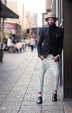 That's a well dressed gent - South African Fashion.