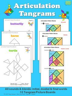 10 best tangram images on pinterest teaching ideas 100 words and math articulation tangrams increase articulation target repetitions during a fun block pattern activity print ccuart Gallery
