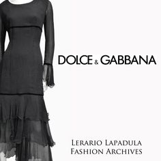 DOLCE & GABBANA silk dress Year 1994 ca Lerario Lapadula Fashion Archives  Join Us on Instagram: lerario.lapadula.fashion  #archive #vogue #dress #couture #italy #goth #gothic #boho #90s #katemoss #anni90 #runway #photo #supertop #perioddress #fashionmuseum #exhinition