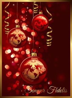 Usmc Marines Support Our Tr Red Gold Marine Corps Christmas Cards United States Christmas E Cards Xmas Cards