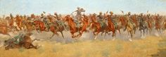 art of american west | The Calvary Scrap, 1906, oil on canvas, 49 x 137 in., Gift of Miss Ima ...