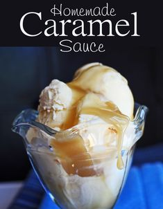 Homemade Caramel Sauce-To say this Homemade Caramel Sauce is fabulous would be the great understatement of the universe. It honestly would. It's hands down the best Caramel Sauce. It's rich, thick and creamy! It reminds me a lot of the caramel sauce they serve at an ice cream shop in Utah called Leatherbys.