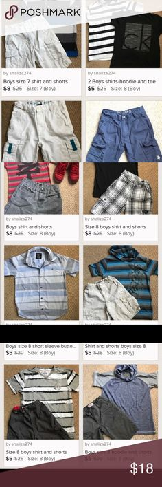 Boys 17 PC bundle Gently used Matching Sets